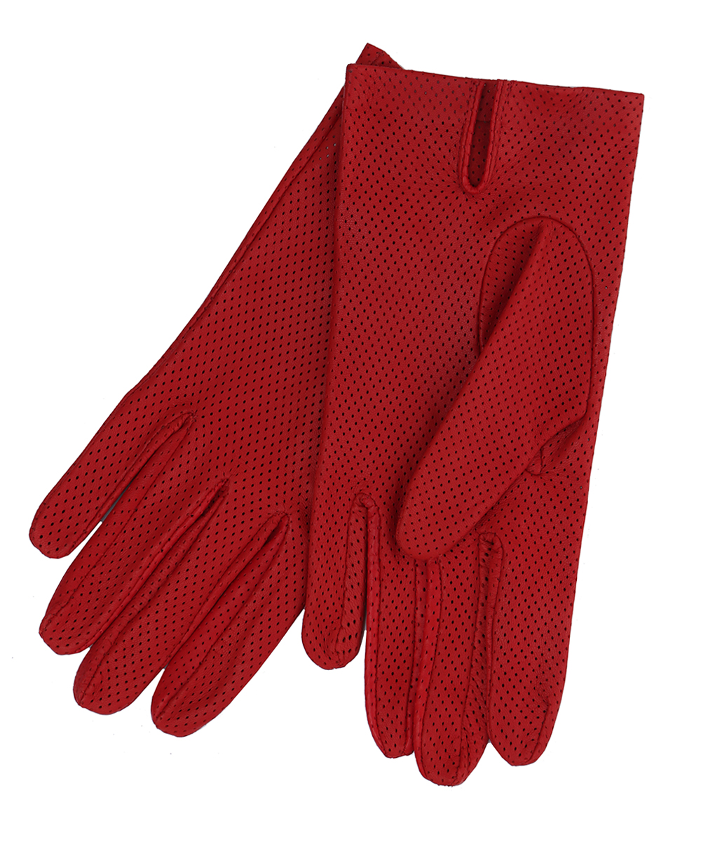 02c4ad13c9591 Product Title - Ladies Italian Nappa Leather Punched Gloves Red
